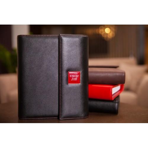 Кожаный блокнот-органайзер на кольцах BogushBook Престиж Харли Девидсон-6