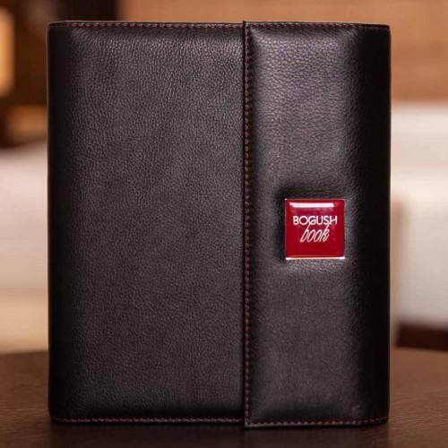 Кожаный блокнот-органайзер на кольцах BogushBook Престиж Харли Девидсон-1