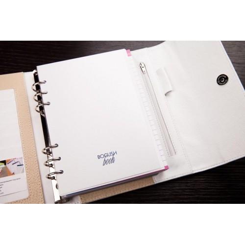 Кожаный блокнот-органайзер на кольцах BogushBook Престиж Диана-3