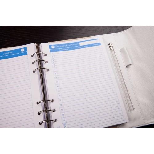 Кожаный блокнот-органайзер на кольцах BogushBook Престиж Диана-4