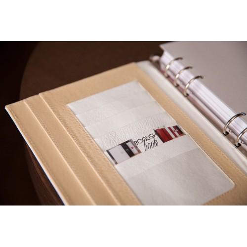 Кожаный блокнот-органайзер на кольцах BogushBook Престиж Диана-5