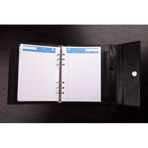 Кожаный блокнот-органайзер на кольцах BogushBook Престиж Монблан-4