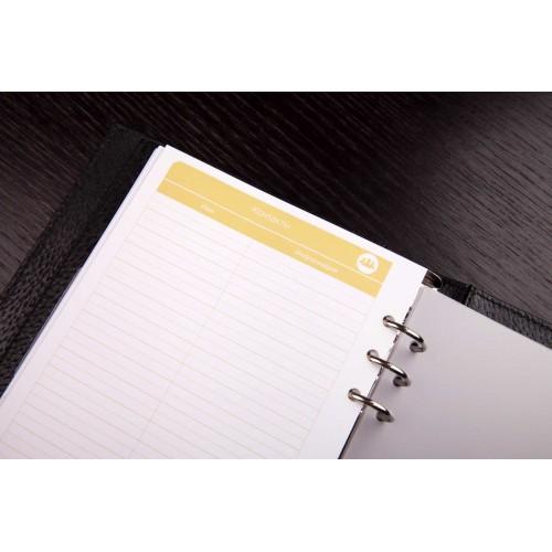 Кожаный блокнот-органайзер на кольцах BogushBook Престиж Монблан-7