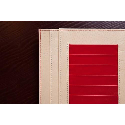 Кожаный блокнот-органайзер на кольцах BogushBook Престиж Моника-6