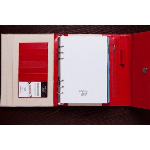 Кожаный блокнот-органайзер на кольцах BogushBook Престиж Монро-3