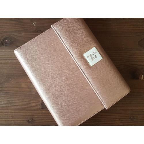 Кожаный блокнот-органайзер на кольцах BogushBook Престиж Шанель-7