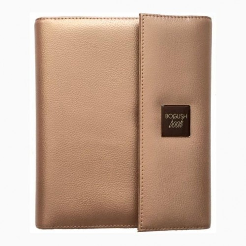 Кожаный блокнот-органайзер на кольцах BogushBook Престиж Шанель-1