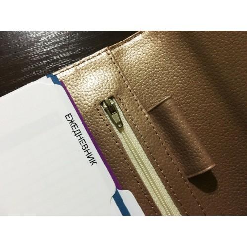 Кожаный блокнот-органайзер на кольцах BogushBook Престиж Шанель-8