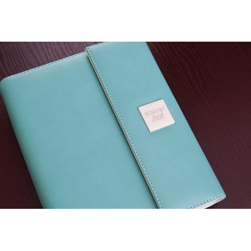 Кожаный блокнот-органайзер на кольцах BogushBook Престиж Тиффани-5
