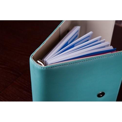 Кожаный блокнот-органайзер на кольцах BogushBook Престиж Тиффани-3
