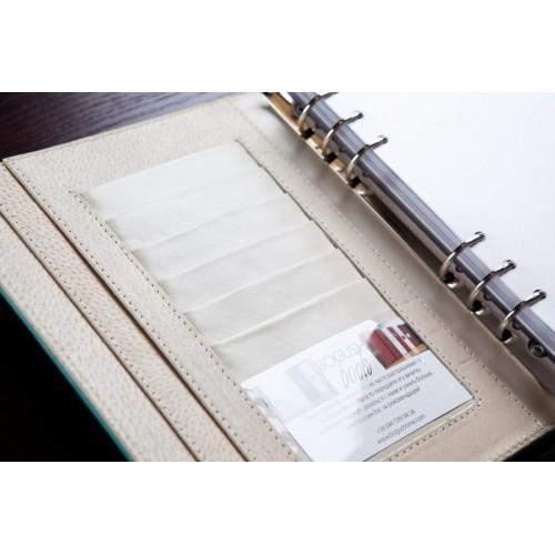 Кожаный блокнот-органайзер на кольцах BogushBook Престиж Тиффани-6