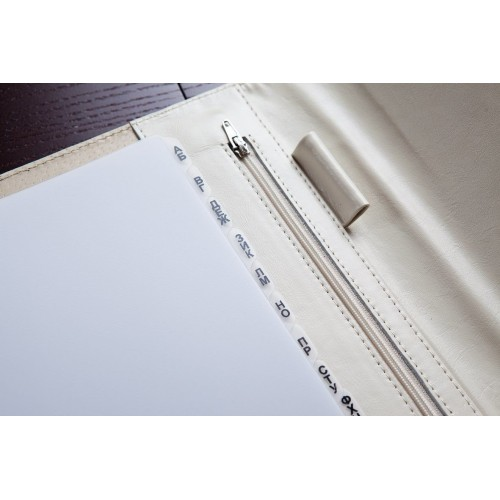 Кожаный блокнот-органайзер на кольцах BogushBook Престиж Тиффани-7