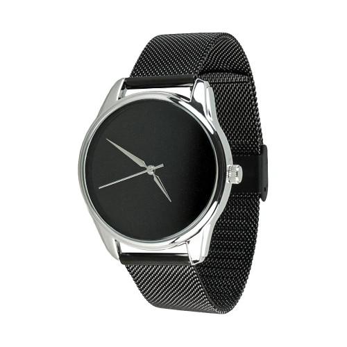 Наручные часы с черным металлическим браслетом Black