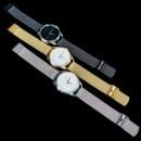 """Часы """"Белым по черному"""" с черным металлическим браслетом-2"""
