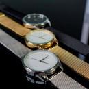 """Часы """"Белым по черному"""" с черным металлическим браслетом-3"""