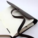 Кожаный блокнот А5 ручной работы Comfy Strap Dark Brown с ручкой-4