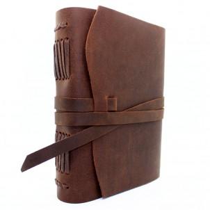 Кожаный блокнот формата А5 Comfy Strap Brown-1