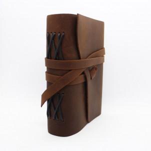 Кожаный блокнот-софтбук mini Comfy Strap Brown-1