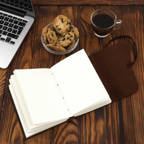 Кожаный блокнот-софтбук Comfy Strap Dark Brown-4