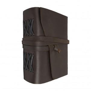 Кожаный блокнот-софтбук mini Comfy Strap Dark Brown-1