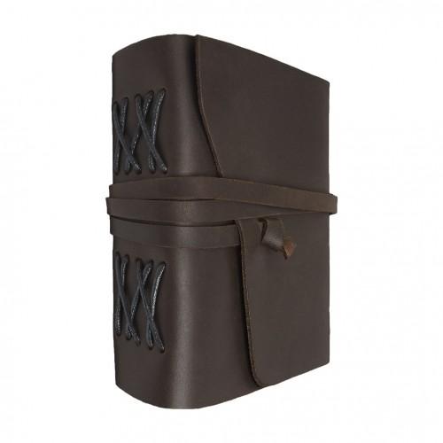 Кожаный блокнот формата B6 Comfy Strap Dark Brown-1