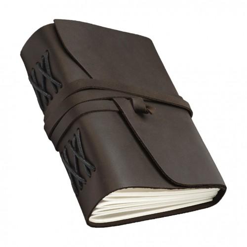 Кожаный блокнот формата B6 Comfy Strap Dark Brown-8