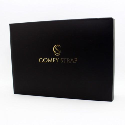 Кожаный блокнот-софтбук mini Comfy Strap Brown с ручкой-4