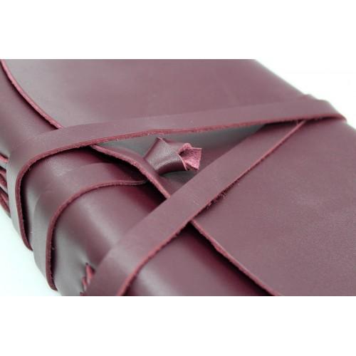 Кожаный блокнот-софтбук A5 Comfy Strap Bordo-3
