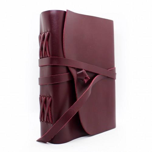 Кожаный блокнот-софтбук A5 Comfy Strap Bordo-1