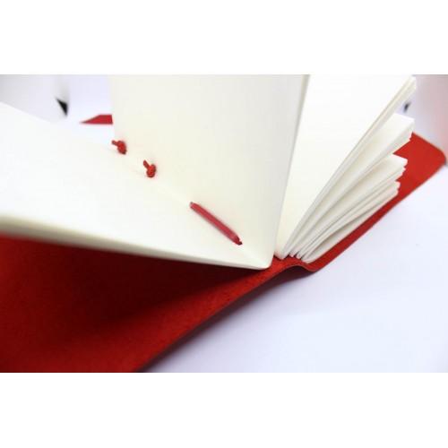 Кожаный блокнот формата A5 Comfy Strap Red в коробочке-4