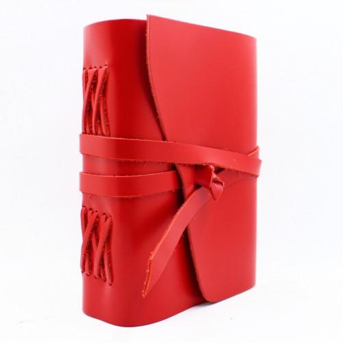 Кожаный блокнот формата A5 Comfy Strap Red в коробочке-1