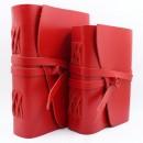 Кожаный блокнот ручной работы Comfy Strap формата A5 Red-2