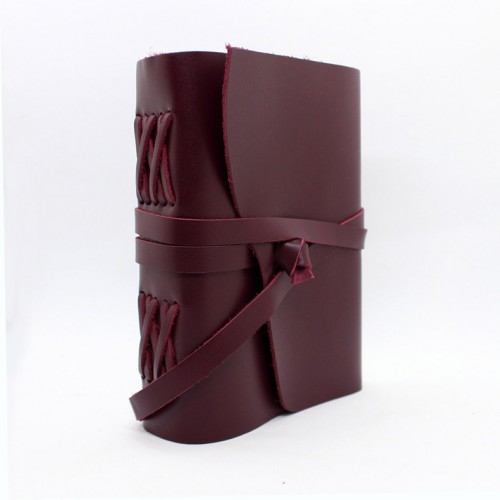 Кожаный блокнот ручной работы Comfy Strap Bordo