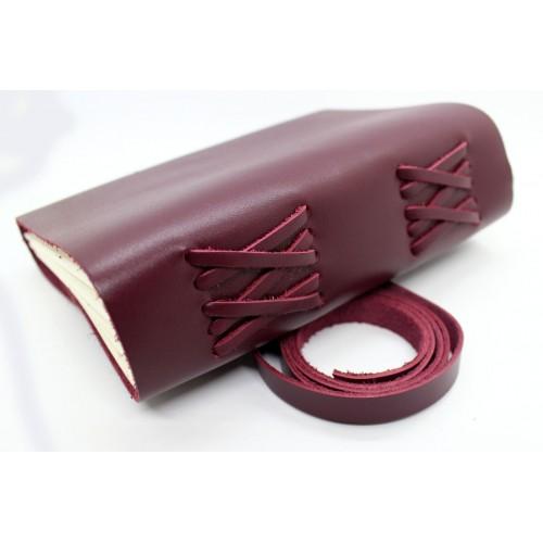 Кожаный блокнот-софтбук Comfy Strap Bordo-7