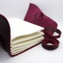 Кожаный блокнот ручной работы Comfy Strap Bordo-6