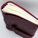 Кожаный блокнот ручной работы Comfy Strap Bordo-2