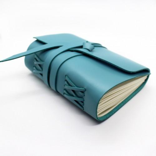 Кожаный блокнот формата B6 Comfy Strap Tiffany-5