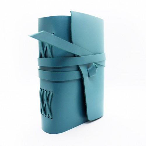 Кожаный блокнот ручной работы Comfy Strap формата A5 Tiffany