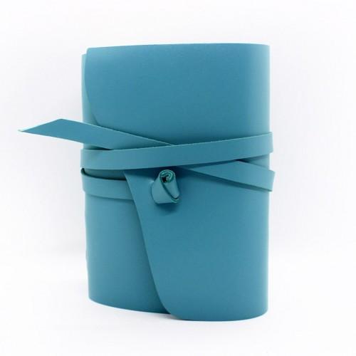 Кожаный блокнот формата B6 Comfy Strap Tiffany-4