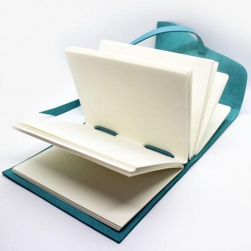 Кожаный блокнот-софтбук Comfy Strap Tiffany-5