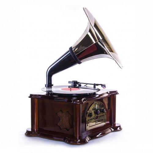 Деревянный музыкальный центр в ретро стиле Sinatra Вишня-2