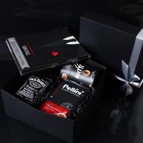 Діловий подарунковий набір для чоловіків з Jack Daniel's, кавою та шоколадом Decent ►FRANKLIN-3