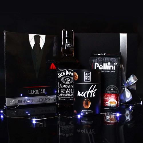 Діловий подарунковий набір для чоловіків з Jack Daniel's, кавою та шоколадом Decent ►FRANKLIN-4