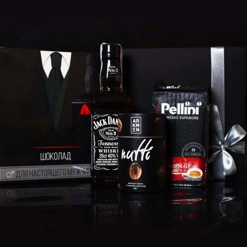 Діловий подарунковий набір для чоловіків з Jack Daniel's, кавою та шоколадом Decent ►FRANKLIN-1
