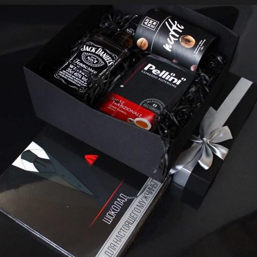 Діловий подарунковий набір для чоловіків з Jack Daniel's, кавою та шоколадом Decent ►FRANKLIN-2