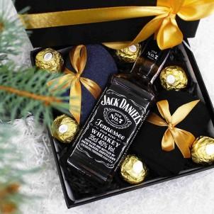 Набір подарунковий для чоловіків з віскі J.Daniels та шкарпетками Duet ►FRANKLIN-1