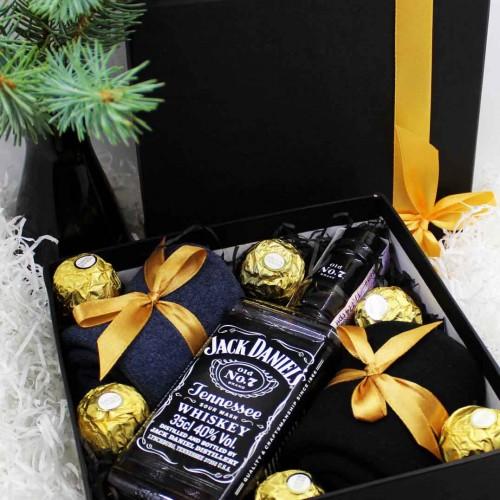 Набір подарунковий для чоловіків з віскі J.Daniels та шкарпетками Duet ►FRANKLIN-5