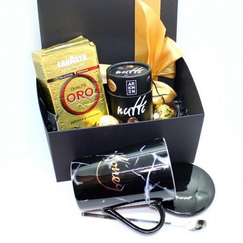 Набір подарунковий з кавою, горіхами та чашкою Honey (картонна коробка) ►FRANKLIN-5