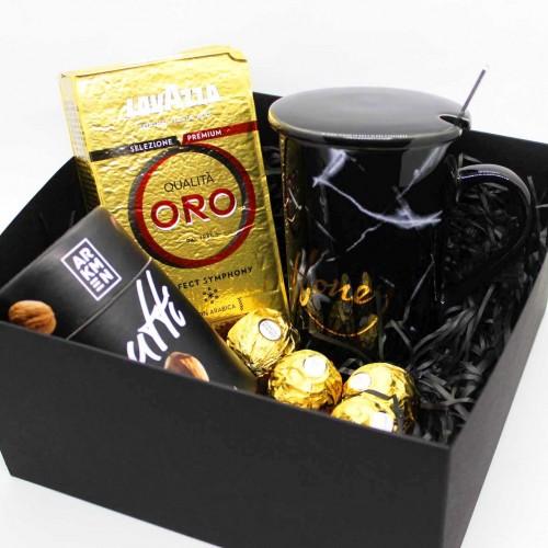 Набір подарунковий з кавою, горіхами та чашкою Honey (картонна коробка) ►FRANKLIN-8