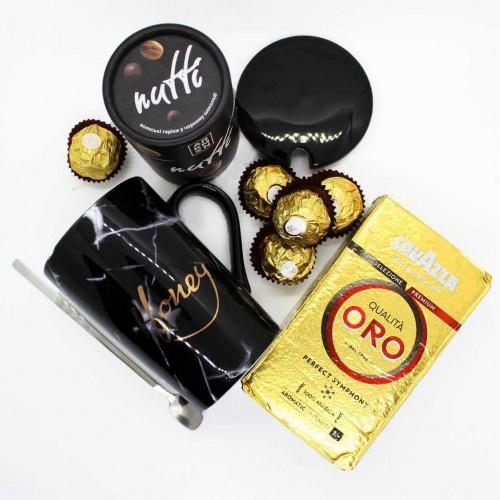 Набір подарунковий з кавою, горіхами та чашкою Honey (картонна коробка) ►FRANKLIN-9